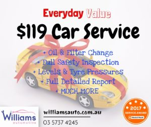 Keep your car maintained for only $119!