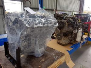 New engine for the Kia at Wangaratta Mechanics