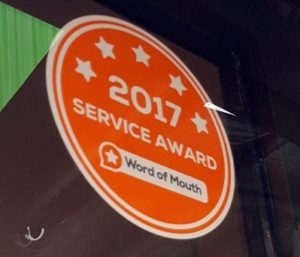 Williams Auto has been awarded Customer Service Award for 2017.